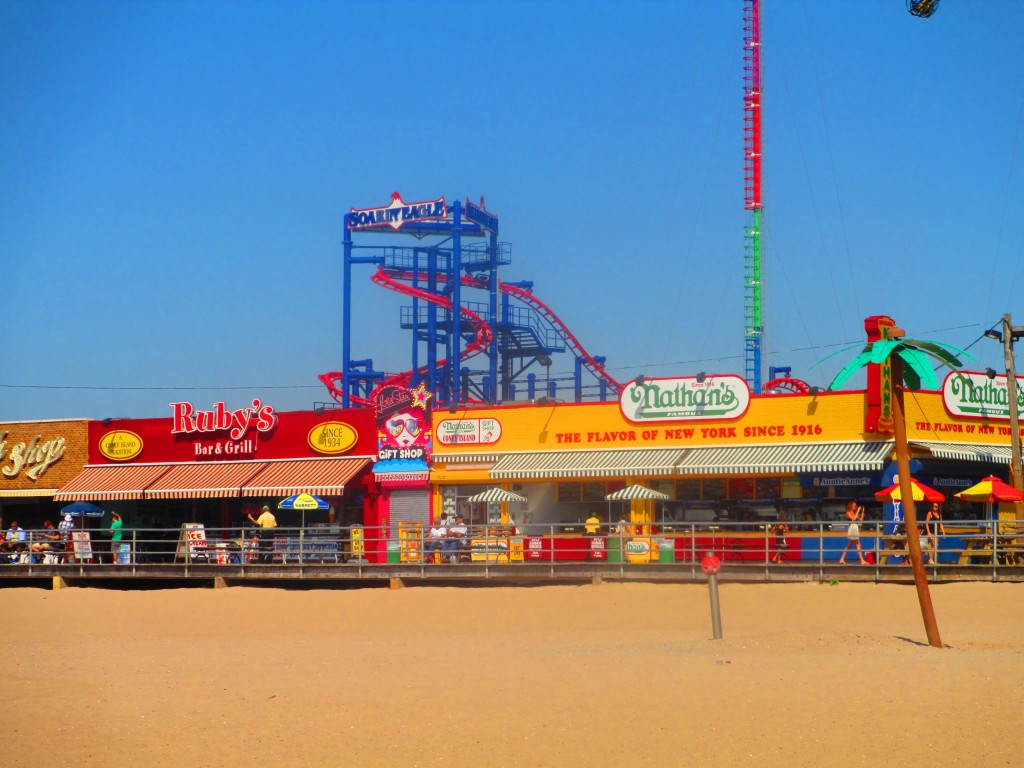 spiaggia a Coney Island, New York