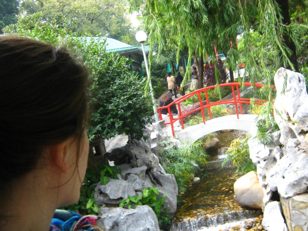 Tempio a Hong Kong, giardino