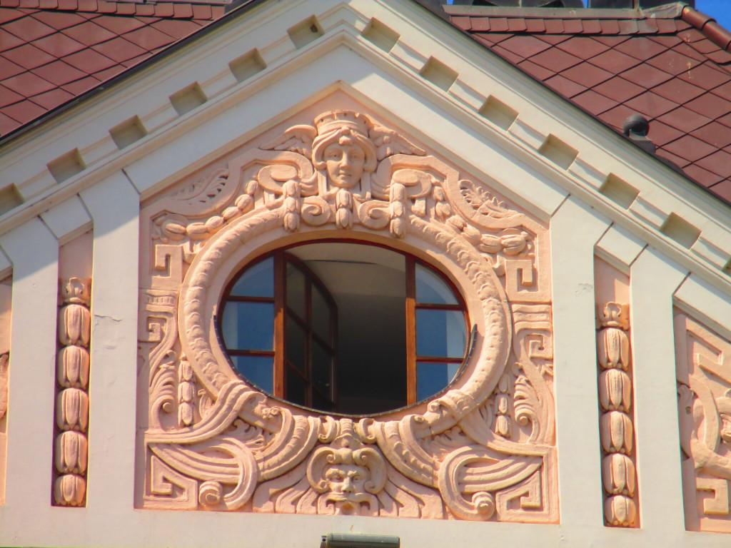Novi Sad, dettaglio di un palazzo