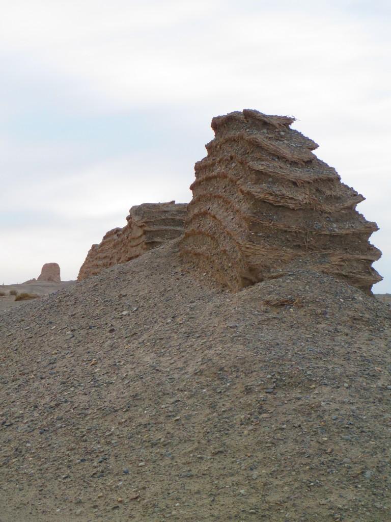 Grande Muraglia della dinastia Han nella provincia del Gansu, Cina