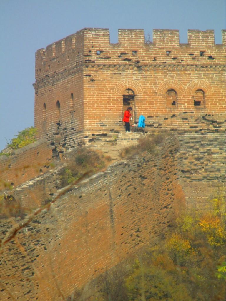 Bigliettaia a Jinshanling, Grande muraglia cinese