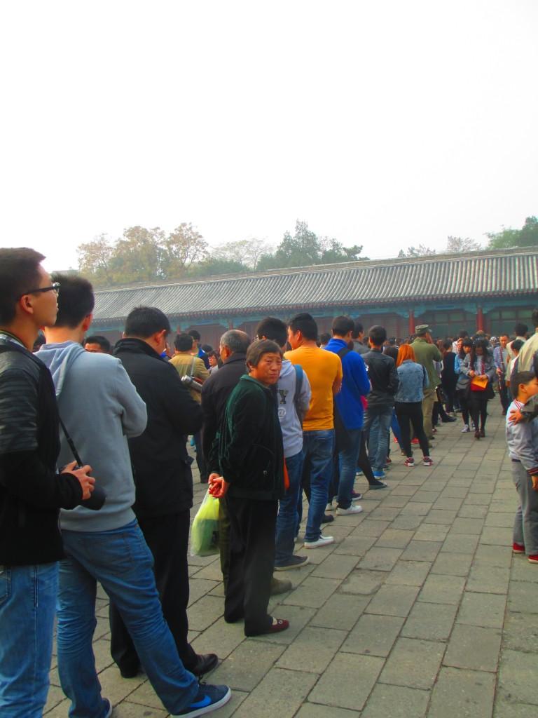 Coda alla biglietteria della Città Proibita, Pechino