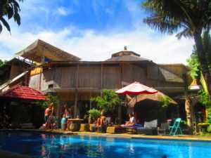 piscina dell'ostello Serenity Ecoguesthouse a Bali