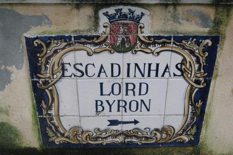 via di Sintra dedicata al poeta Lord Byron