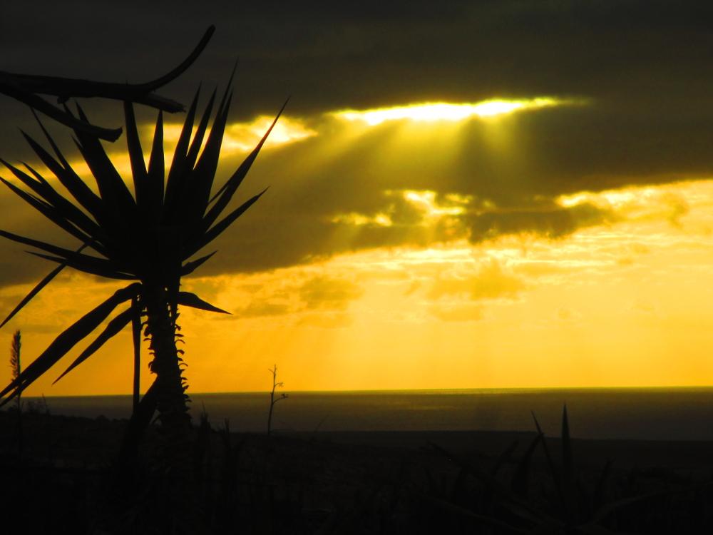 romantico tramonto a El Cotillo, isola di Fuerteventura