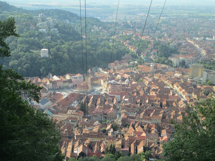 Brasov vista dall'alto