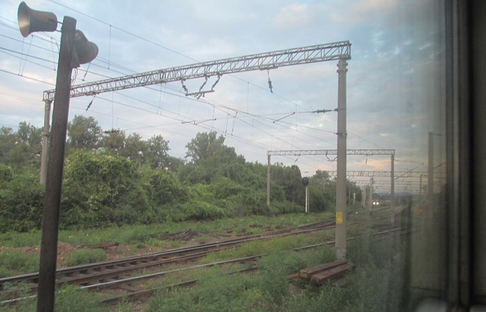 binari del treno in romania