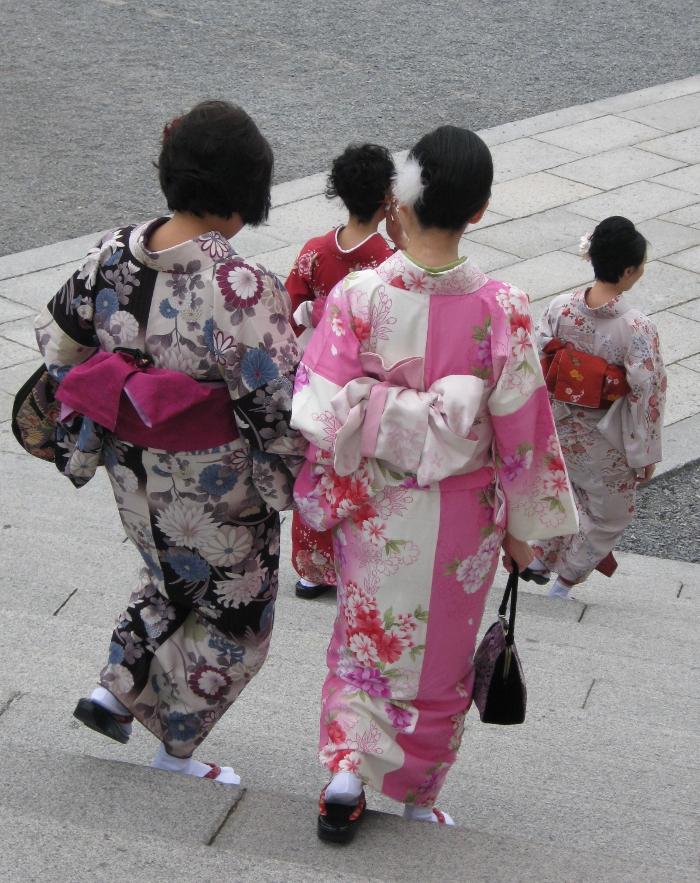donne in kimono a kyoto