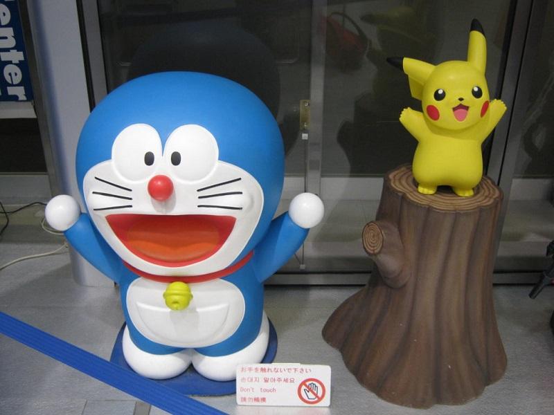 Doraemon e Pikachu al Tokyo Anime Center