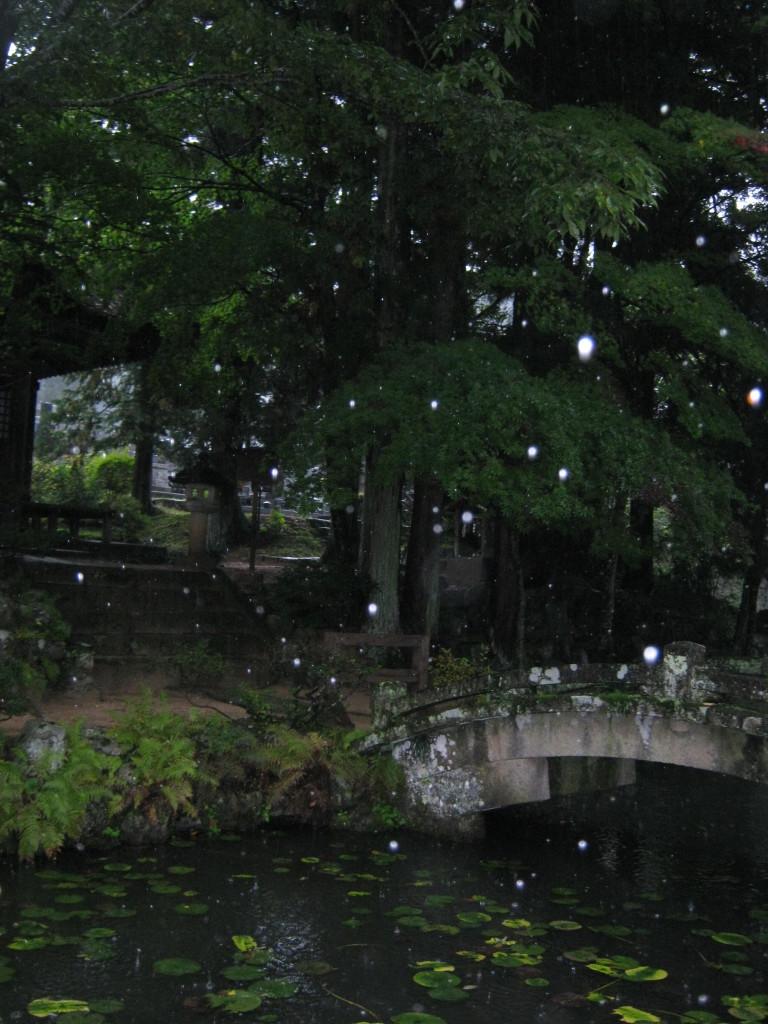 Una giornata di pioggia a Takayama, Giappone