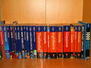 La mia collezione di guide Lonely Planet