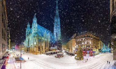 centro di vienna in inverno