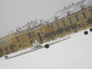 castello di Schönbrunn, Vienna, coperto dalla neve