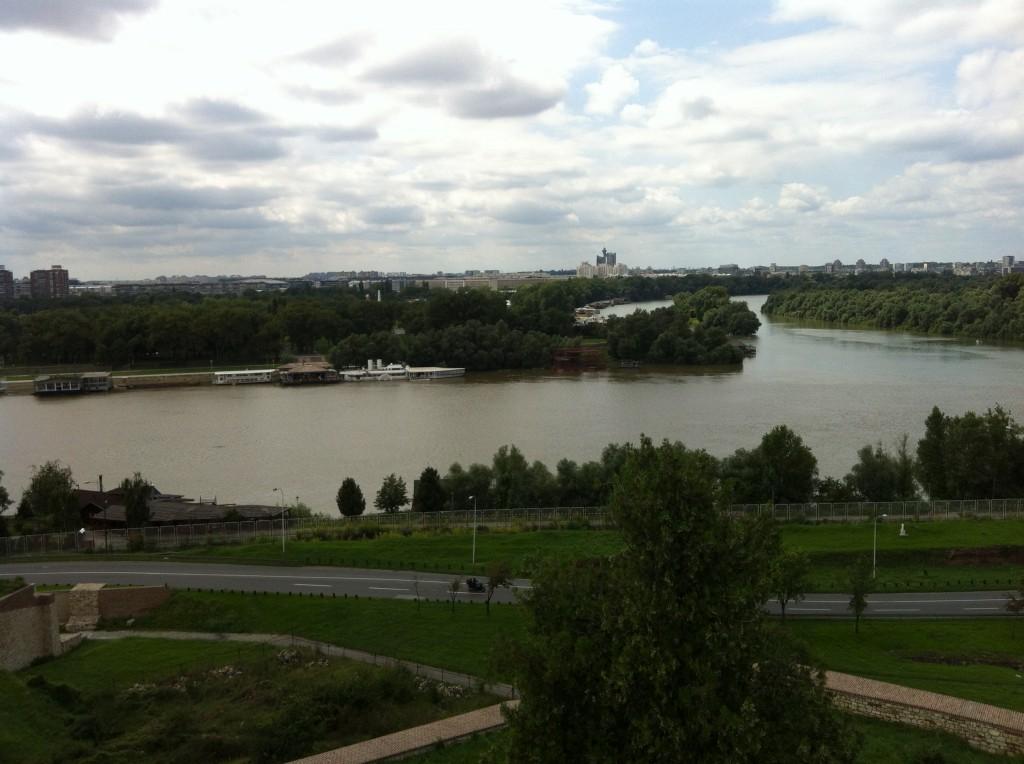 Belgrado Zemun Sava e Danubio, foto di Dino Galliera