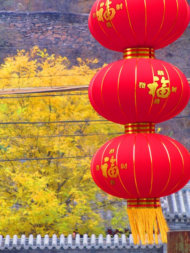 lanterne cinesi, immagine autunnale