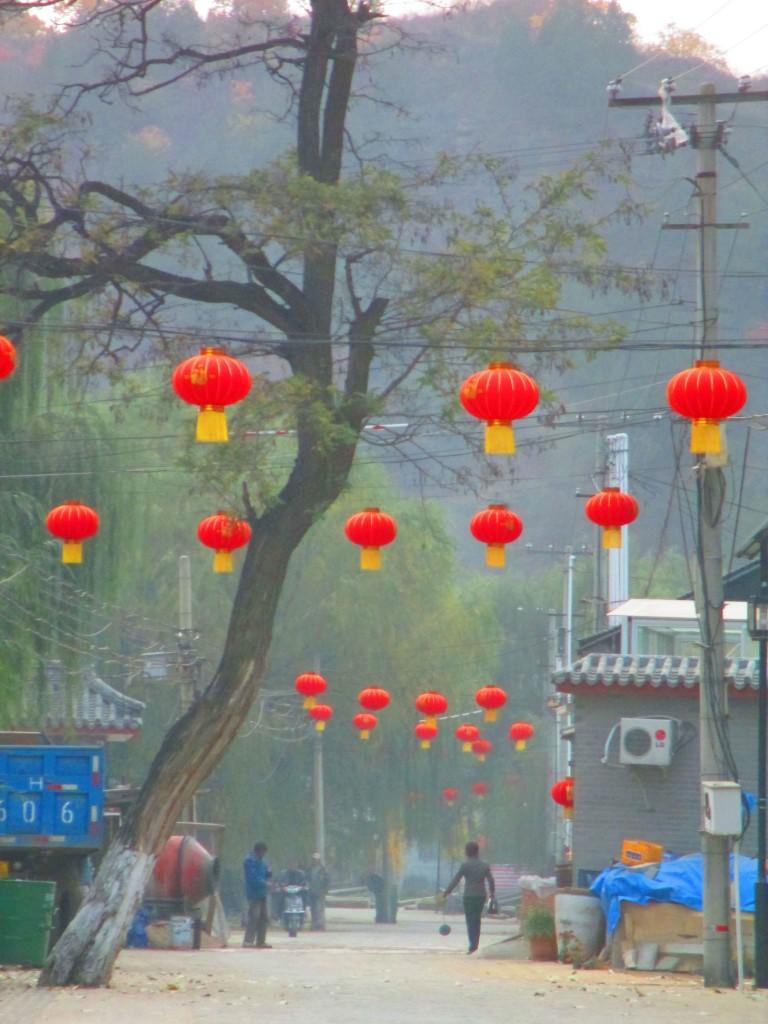 Lanterne rosse a Gubeikou, Cina