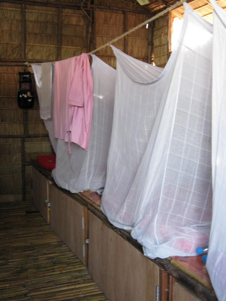 dormitorio in un ostello a Bangkok, Thailandia