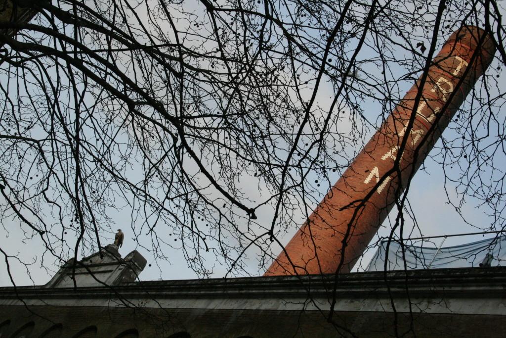 vecchio birrificio Truman a Brick Lane, Londra, oggi usato per studi di artisti