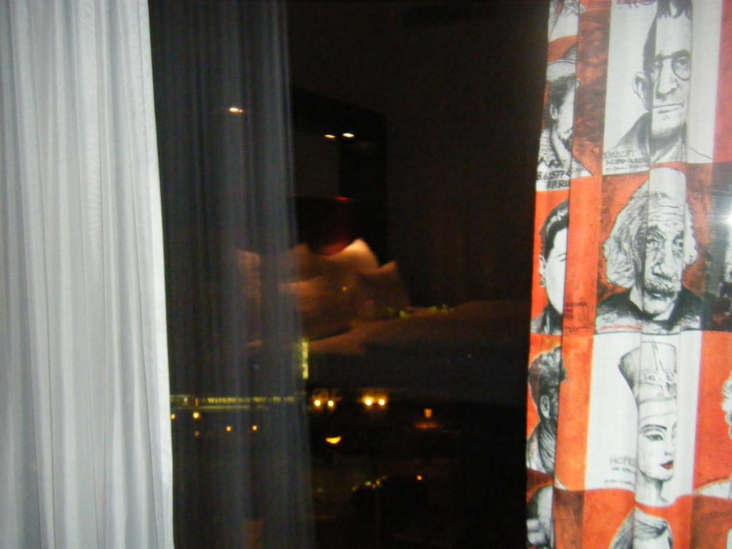 Vista da una camera d'albergo a Berlino