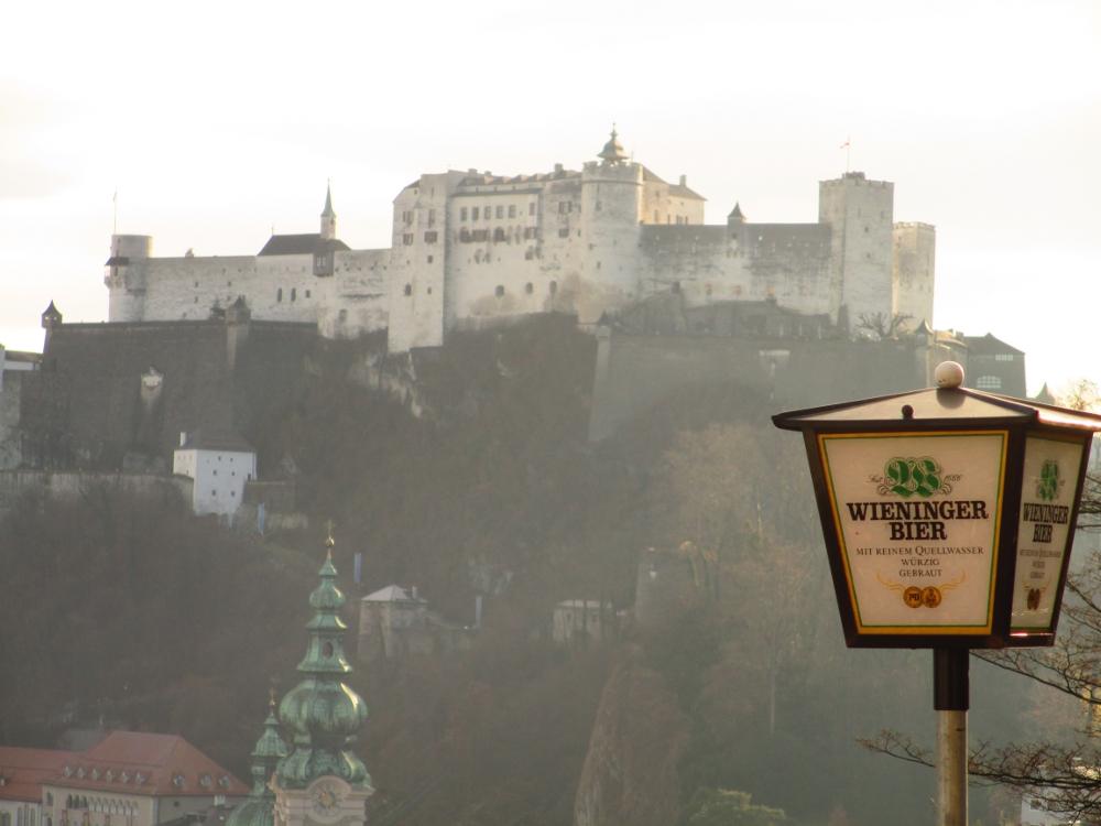fortezza di Salisburgo vista dall'ostello Stadtalm