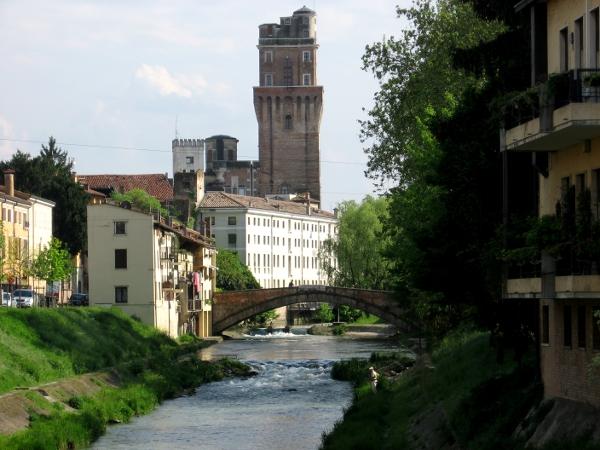 le riviere di Padova, con vista sulla Specola