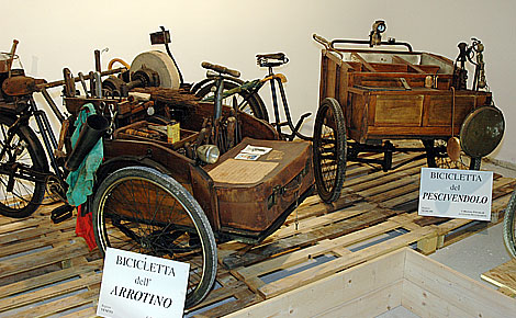 Bici in mostra al Museo dei mestieri in bicicletta, Fabriano