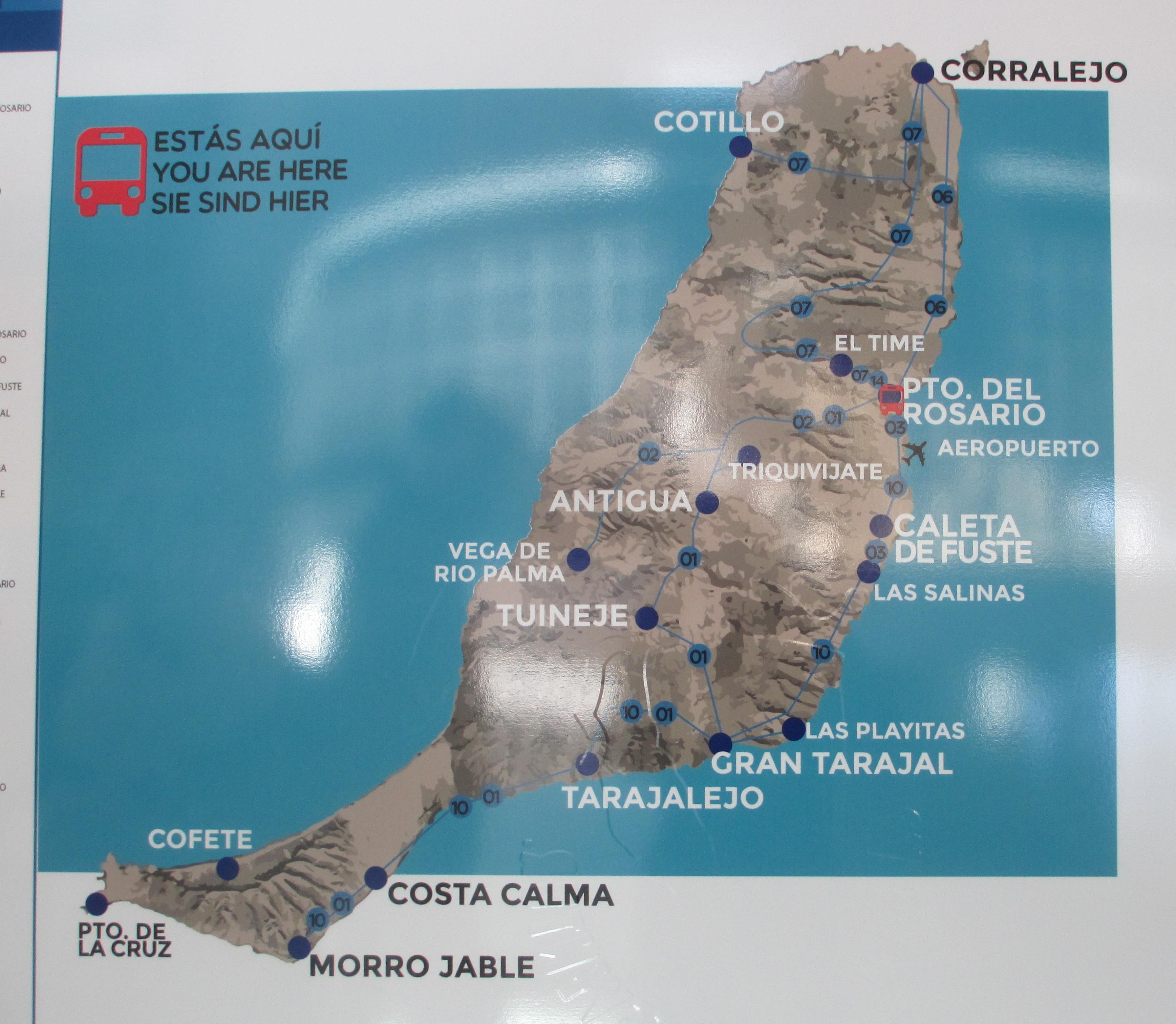Cartina Bus Fuerteventura