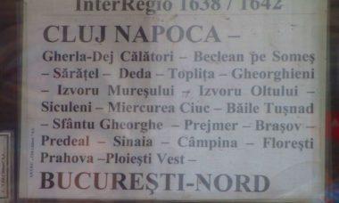 itinerario treno interregionale in romania