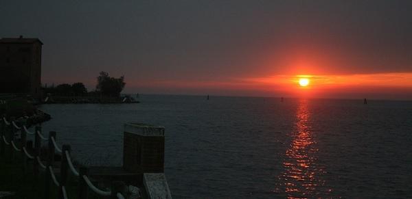 tramonto a pellestrina