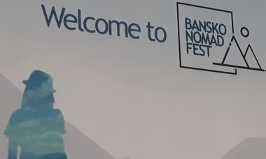 bansko nomad fest striscione benvenuto
