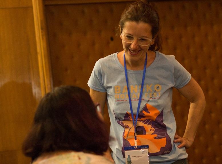volontarie del Bansko Nomad Fest
